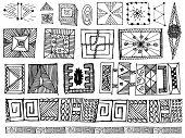 set of doodle vector elements