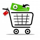 add to cart vector web icon