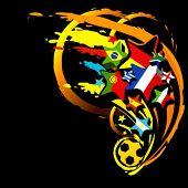football abstract vector illustration