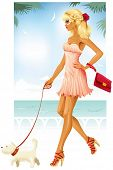 picture of blonde woman  - Summer fashion - JPG