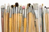 stock photo of paint brush  - Paint brushes on white background - JPG
