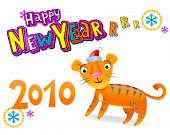 Happy new year-rrr-rr!   Happy new year 2010, by Chinese Calendar year of the Tiger.