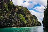 Tropical Island And Beaufitul Ocean In El Nido, Palawan, Philippines