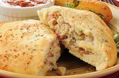 Steak Ad Cheese Calzone