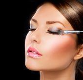Makeup.Make-up.Eyeshadows. Eye shadow brush