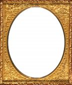 Gold Rectangular Frame with Oval Opening