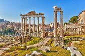 Römische Ruinen in Rom, Forum