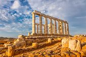 foto of poseidon  - Ruins of Poseidon temple - JPG