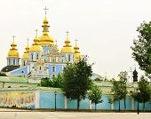 Domes Of The St. Michael's Monastery In Kiev