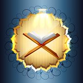 religious book of quraan vector illustration
