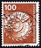 Postage stamp Germany 1975 Bituminous Coal Excavator