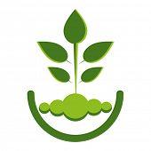 Green ECO reforestation concept with seedling design.