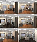 3D rendering Living room