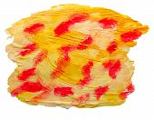 art yellow red spot watercolor isolated for your design