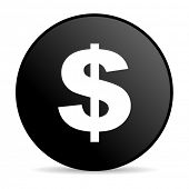 us dollar black circle web glossy icon