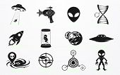 Alien und UFO Icons set
