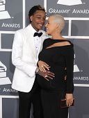 LOS ANGELES - FEB 10:  Wiz Khalifa & Amber Rose arrives to the Grammy Awards 2013  on February 10, 2