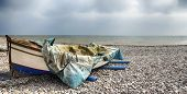 Fishing Boat On Beach At Budleigh Salterton