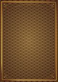 Corner patterns in brown wallpaper