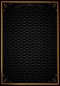 Corner patterns in black wallpaper