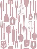 Kitchen Utensils Seamless Pattern