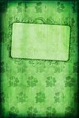 Grunge Background With Clover And Copy-space