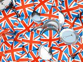 Buttons With England Flag