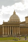 Dome Of St. Peter's From The Vatican Museum