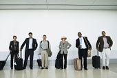 pic of boredom  - People waiting at airport with luggage - JPG