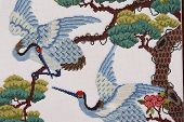 Blue Needlepoint Birds