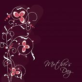 Happy Mothers Day background with floral design.