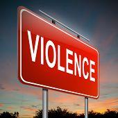 Concepto de violencia.