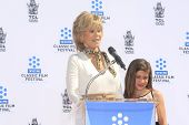 LOS ANGELES - APR 27:  Jane Fonda and Viva Vadim at the Jane Fonda Hand and FootPrint Ceremony at th
