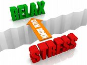 Calm down is the bridge from STRESS to RELAX.