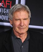LOS ANGELES - APR 24:  Harrison Ford arrives to the AFI Night At The Movies 2013  on April 24, 2013