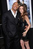 LOS ANGELES - MAR 28:  Dwayne Johnson & Lauren Hashian arrives to the
