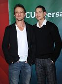 LOS ANGELES - JAN 06:  David Lyons & JD Pardo arrives to the NBC All Star Winter TCA 2013  on Januar