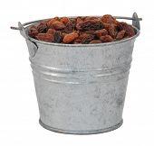 Sultanas In A Miniature Metal Bucket
