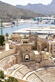 Roman Amphitheater In Cartagena, Murcia, Spain