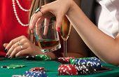 Friends Enjoying A Gambling