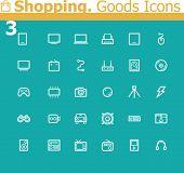 Shopping. Electronics icon set