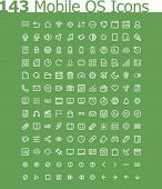 Operating system icon set