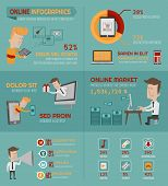 Online shopping infographics elements