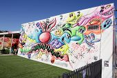 Stock image of Wynwood art murals