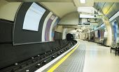 stock photo of railroad-sign  - Underground in London. Subway transport in London