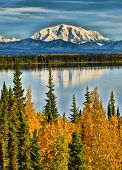 Reflections On Willow Lake Of The Wrangell Mountains