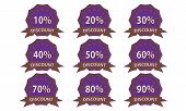 Purple-brown Discount Badge
