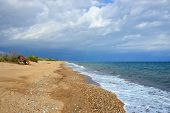 foto of velika  - One from the best tourist place in Messenia beautiful beach of Velika beach with Blue Flag Greece - JPG
