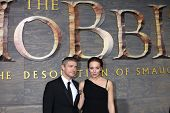 LOS ANGELES - DEC 2:  Martin Freeman, Amanda Abbington at the