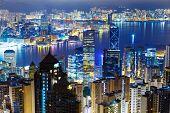 Hong Kong city by night